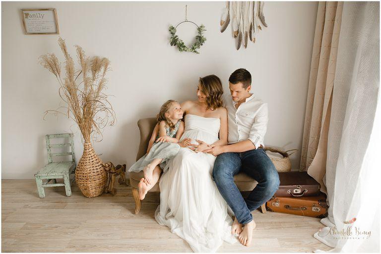 photo de grossesse en famille